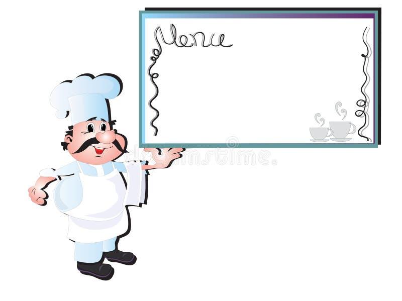 szef kuchni kucharz ilustracja wektor