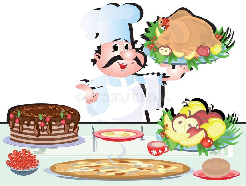 szef kuchni kucharz royalty ilustracja