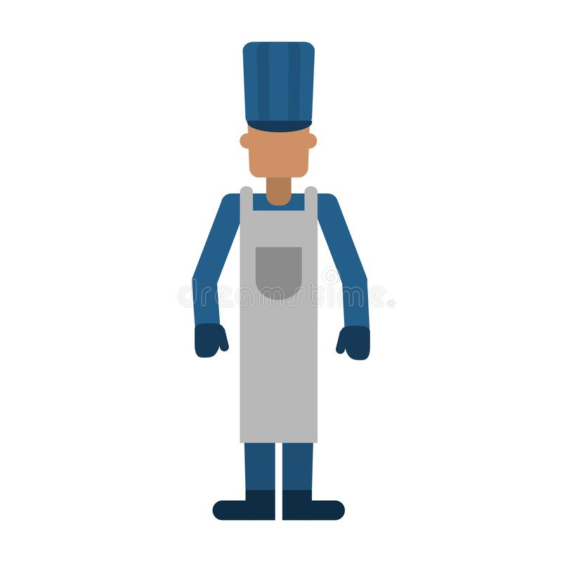 Szef kuchni kuchenki pracownika fachowy avatar royalty ilustracja