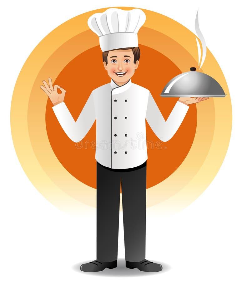 szef kuchni kuchni parujący potomstwa ilustracja wektor