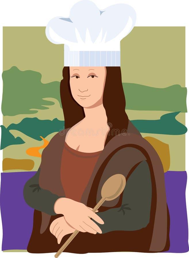 szef kuchni Lisa Mona ilustracja wektor