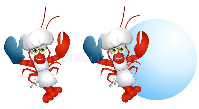 szef kuchni lobster kreskówka ilustracji