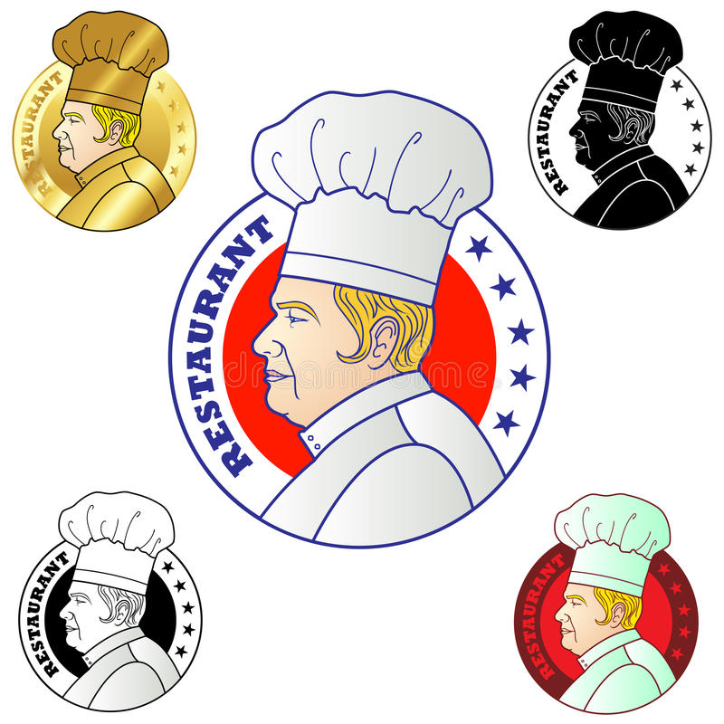 szef kuchni logo ilustracja wektor