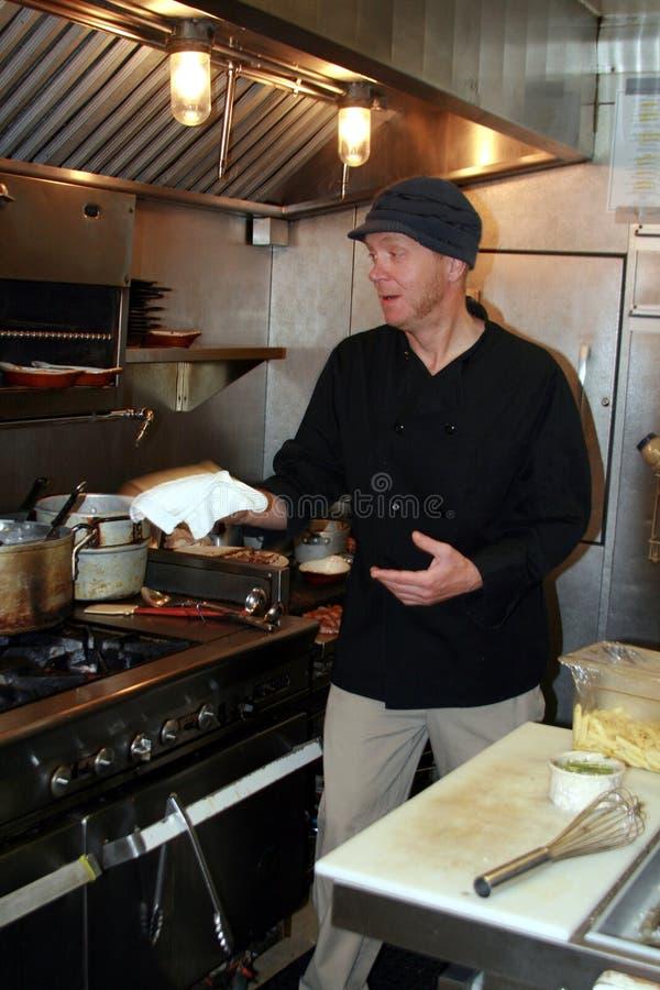 szef kuchni mała praca zdjęcia royalty free