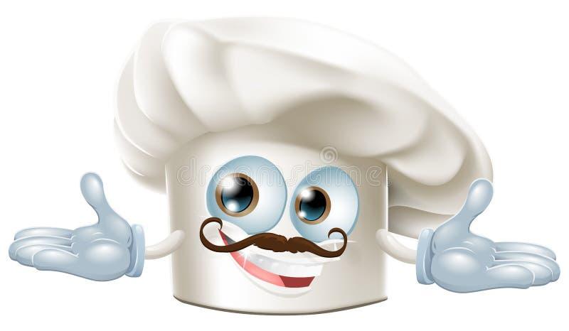 szef kuchni maskotka śliczna kapeluszowa ilustracja wektor
