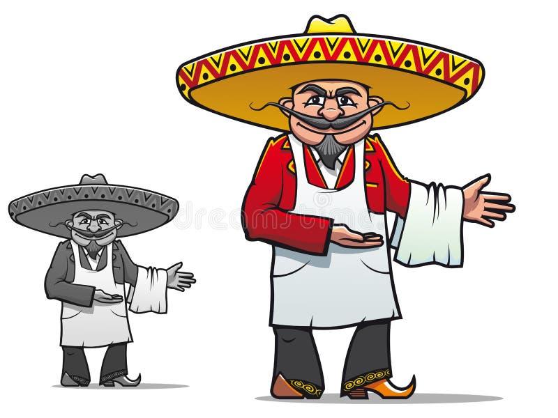 szef kuchni meksykanin ilustracja wektor