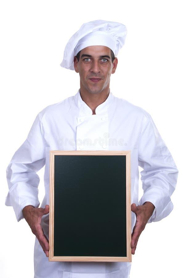 szef kuchni menu s obraz royalty free