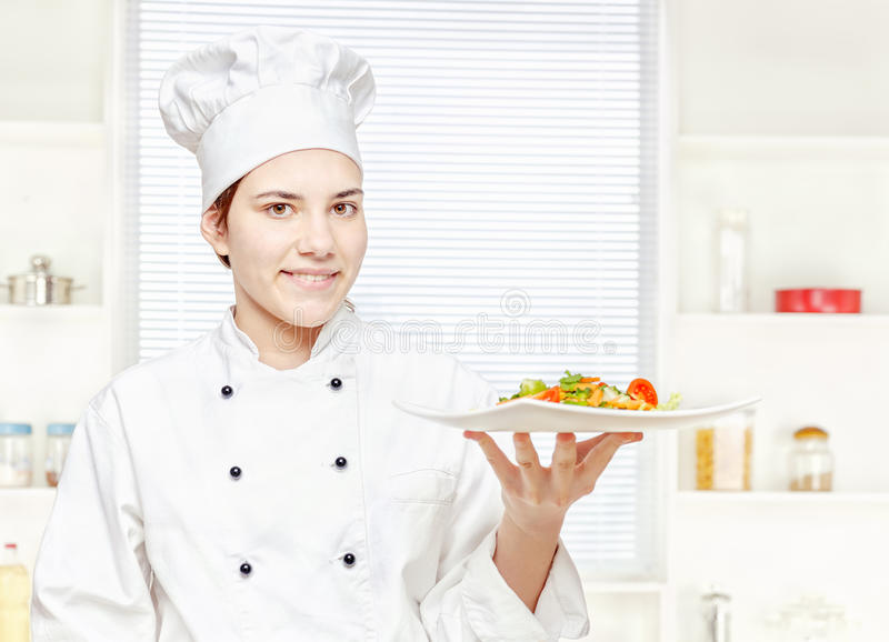 szef kuchni mienia kuchenny posiłku jarosz zdjęcie stock
