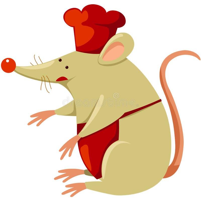 szef kuchni mysz royalty ilustracja