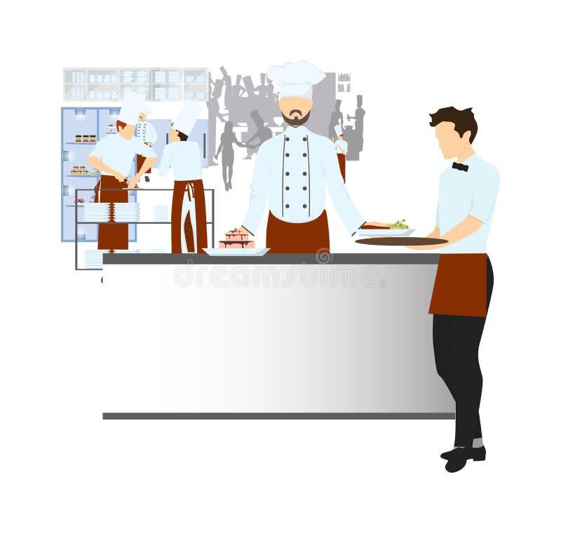 Szef kuchni na kuchni royalty ilustracja