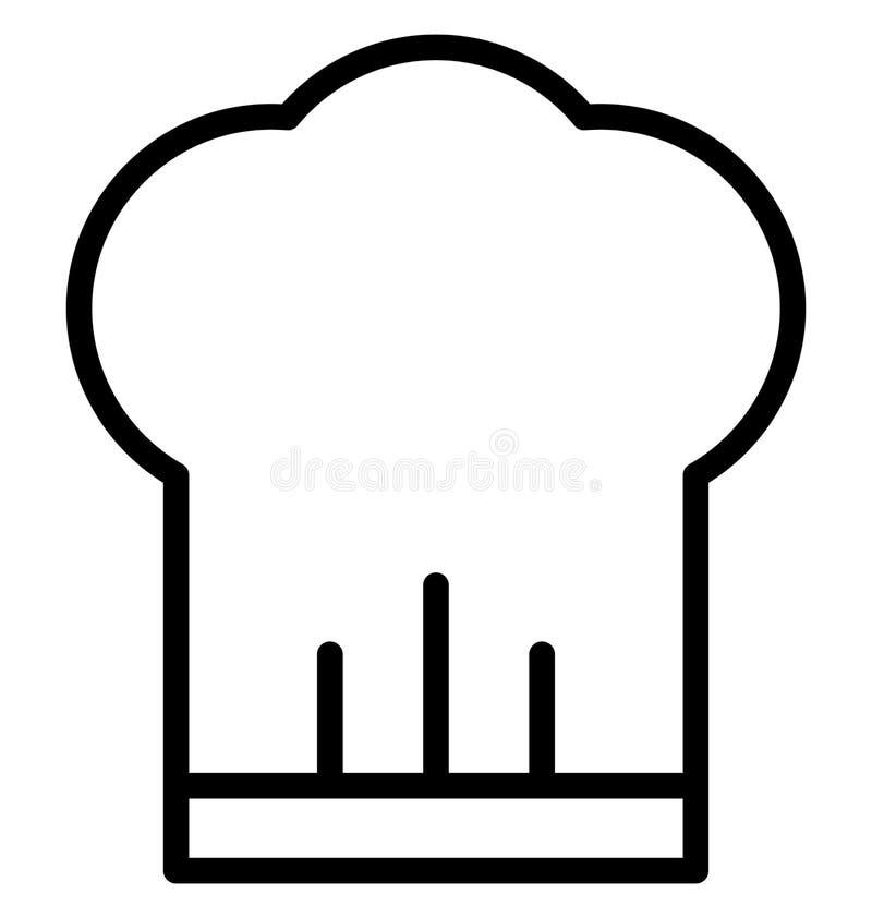 Szef kuchni nakrętka Odizolowywał Wektorową ikonę która może łatwo redagować lub modyfikująca ilustracja wektor
