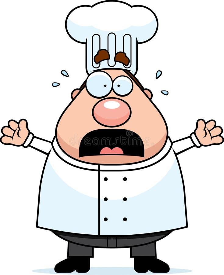 szef kuchni okaleczający royalty ilustracja