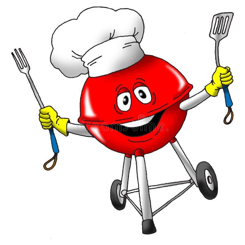 szef kuchni opieczenie ilustracja wektor