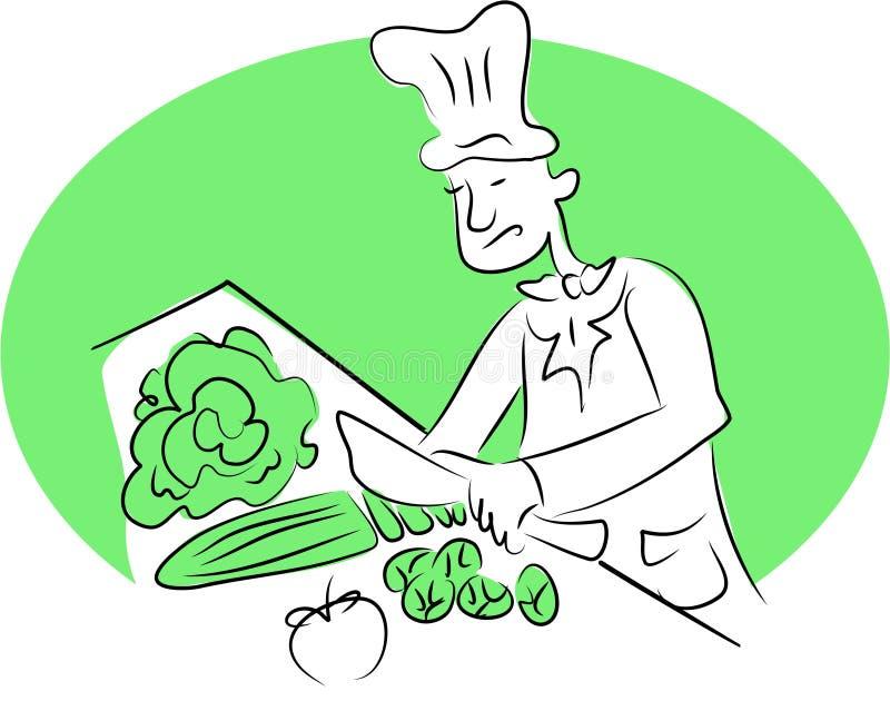 szef kuchni organiczne royalty ilustracja