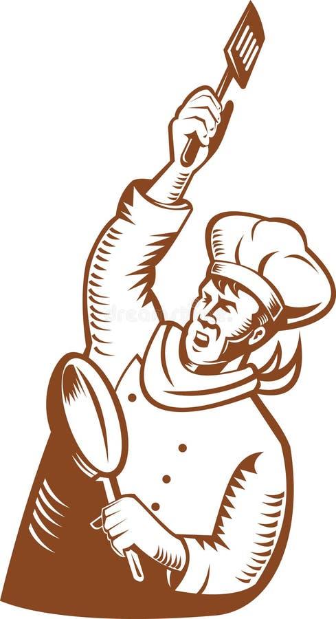szef kuchni piekarniana rewolucja ilustracja wektor