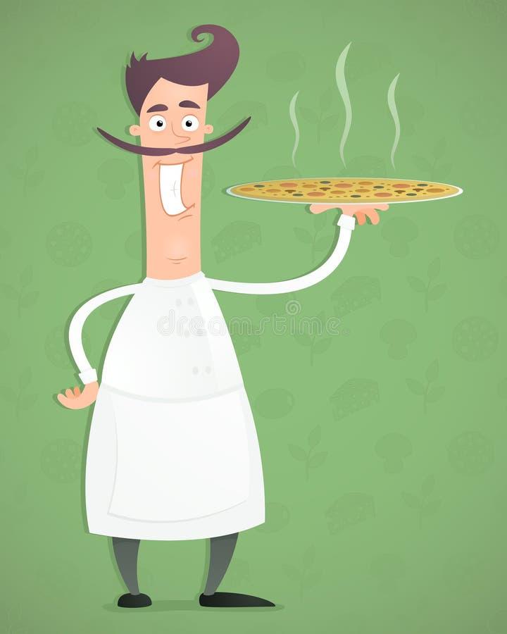 szef kuchni pizza ilustracji