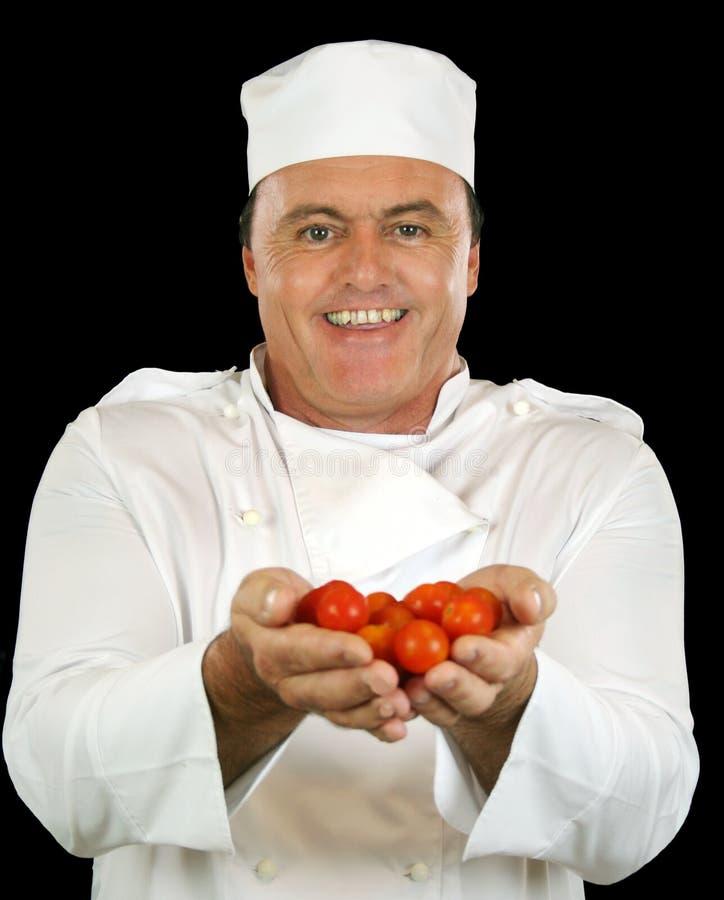szef kuchni pomidor zdjęcie royalty free