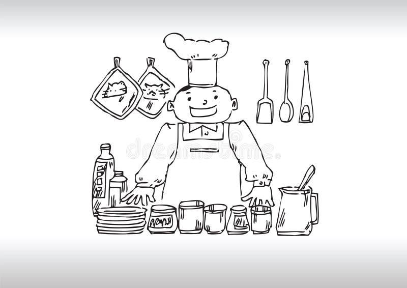 szef kuchni porady ilustracji