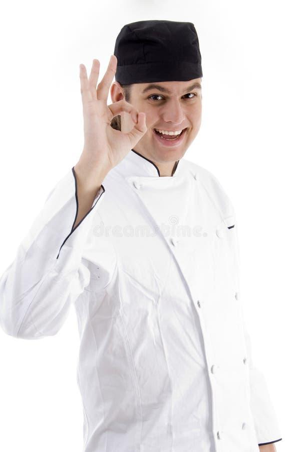 szef kuchni portreta potomstwa fotografia stock