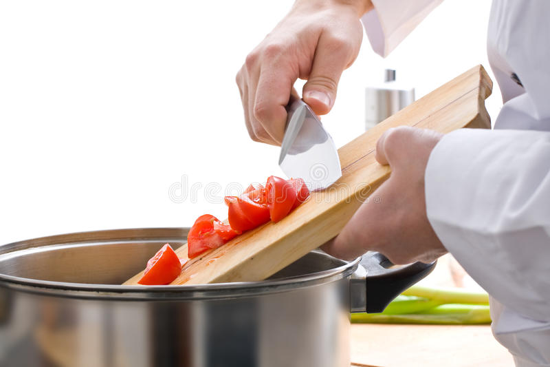 szef kuchni posiłku narządzanie fotografia royalty free
