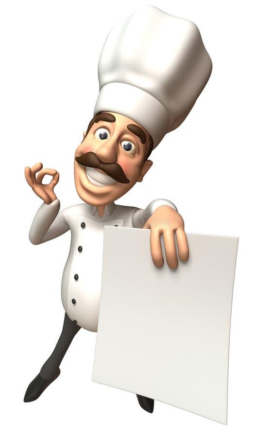 szef kuchni pusty znak ilustracji