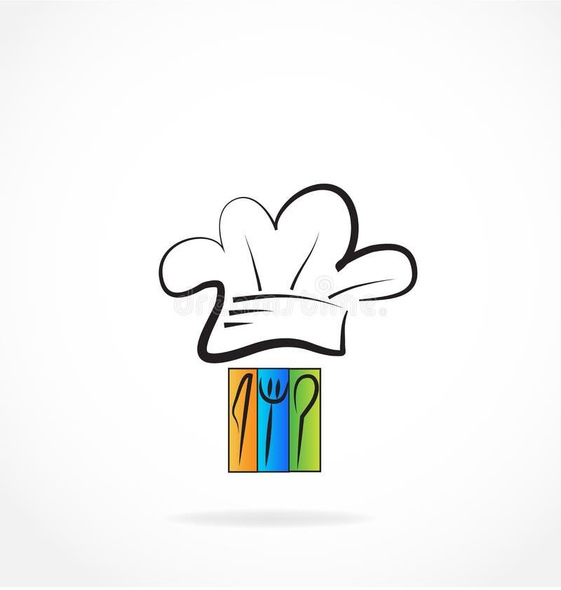 Szef kuchni restauraci kucharza loga wektor ilustracja wektor