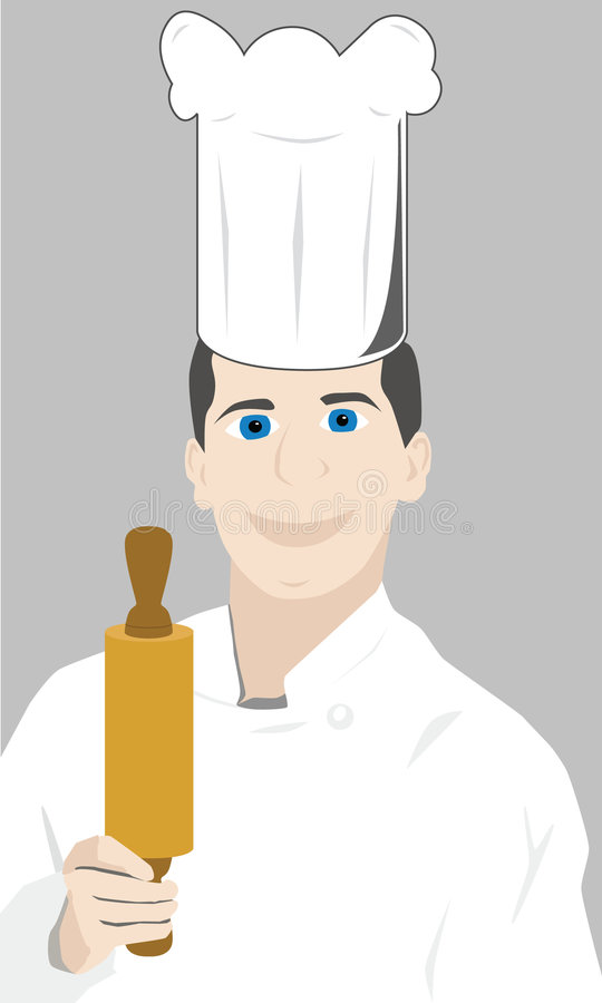 szef kuchni restauracji royalty ilustracja