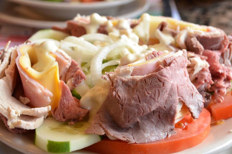 Szef kuchni Sałatkowa wołowina obraz royalty free