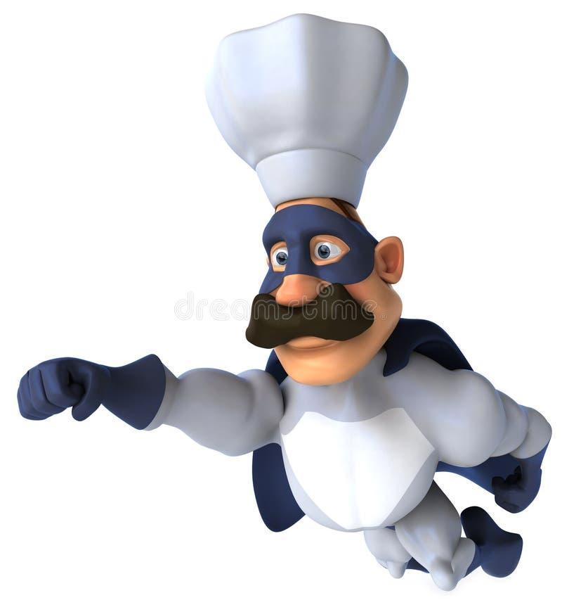 szef kuchni super ilustracja wektor
