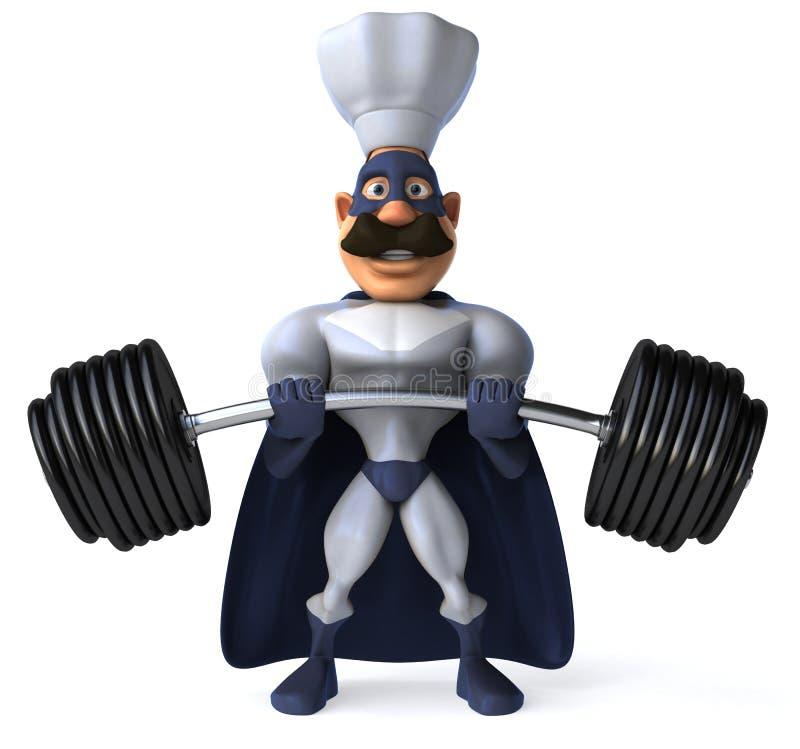 szef kuchni super ilustracji