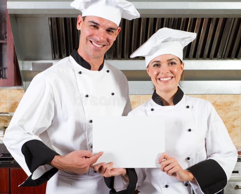 szef kuchni szczęśliwi obrazy stock