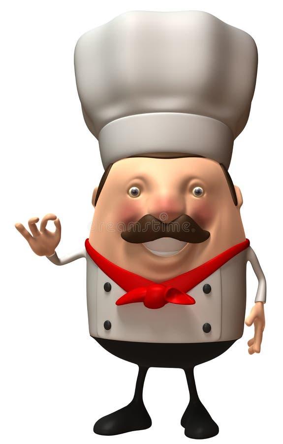 szef kuchni włoch ilustracja wektor