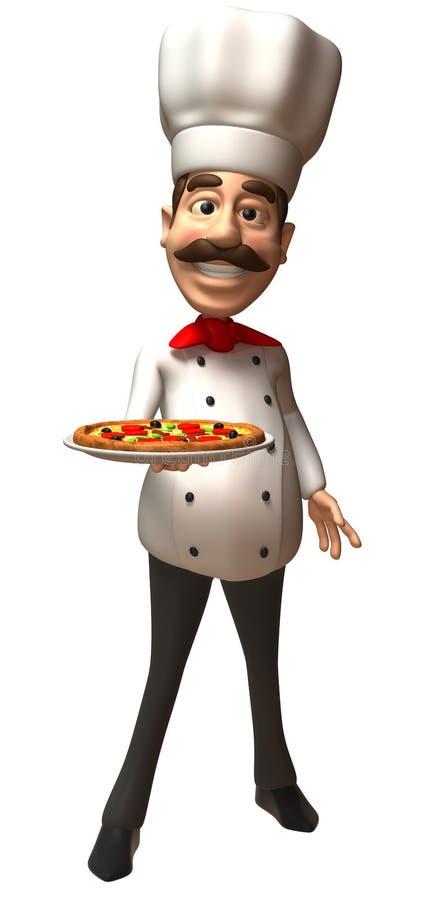 szef kuchni włocha pizza ilustracji