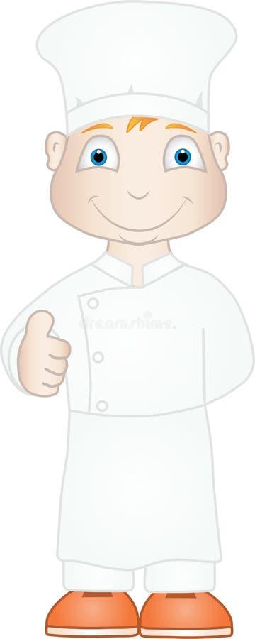 Szef kuchni z aprobaty ilustracja wektor
