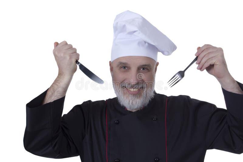 Szef kuchni z brodą obrazy royalty free
