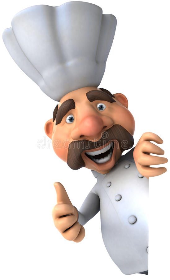 szef kuchni zabawa royalty ilustracja