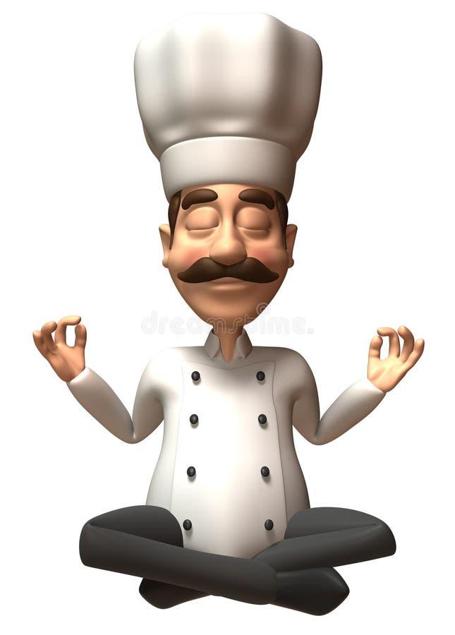 szef kuchni zen. ilustracji