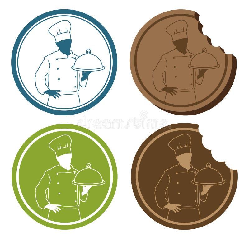 Szef kuchni znak ilustracja wektor