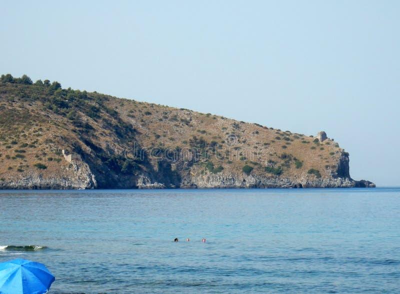 Szef Palinuro od Zasolonej plaży zdjęcie royalty free