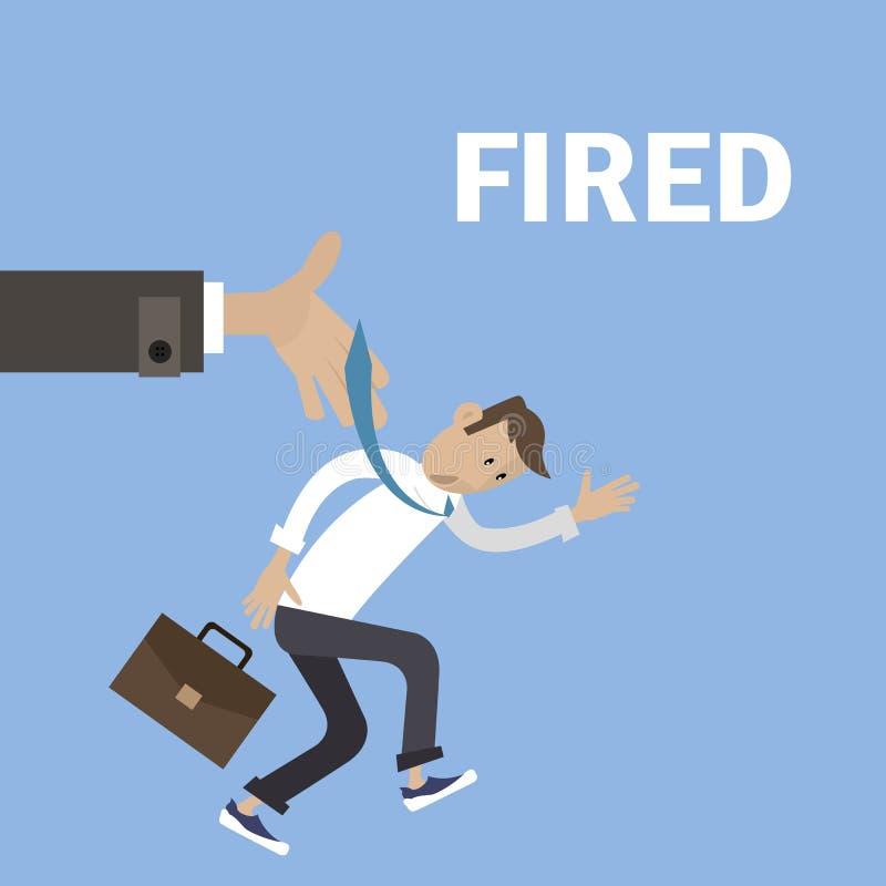 Szef podpalający pracownik ilustracji