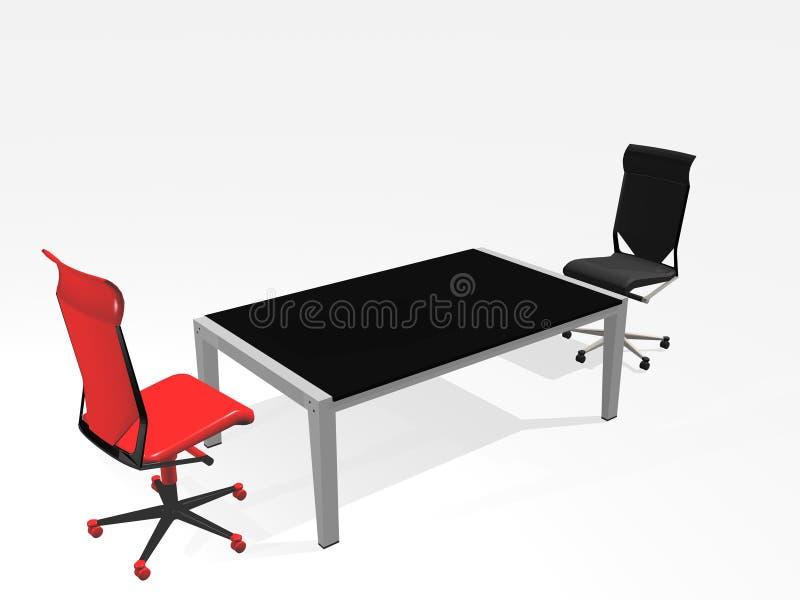 szefa krzesło royalty ilustracja