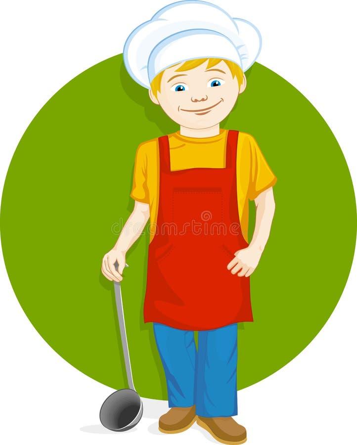 Szefa kuchni dzieciak ilustracja wektor