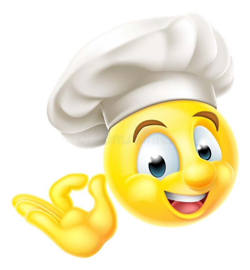 Szefa kuchni Emoji Kucbarski Emoticon royalty ilustracja