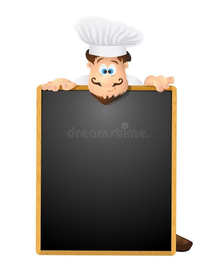 szefa kuchni i menu chalkboard tło wektor ilustracja wektor