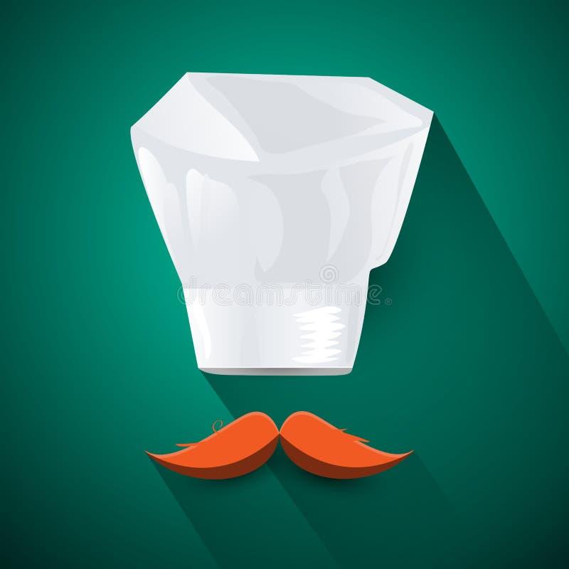 Szefa kuchni kapelusz fotografia royalty free