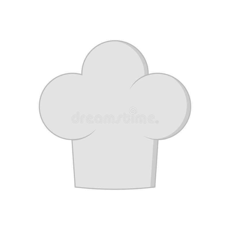 Szefa kuchni kapelusz odizolowywający na białym tle Ubraniowy kucharz w mieszkanie stylu ilustracja wektor