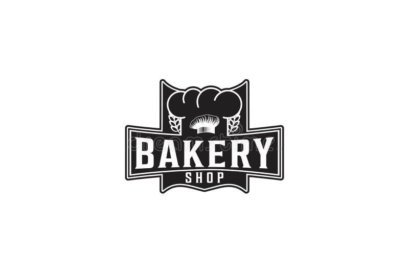 Szefa kuchni kapelusz, piekarnia logo ilustracja wektor