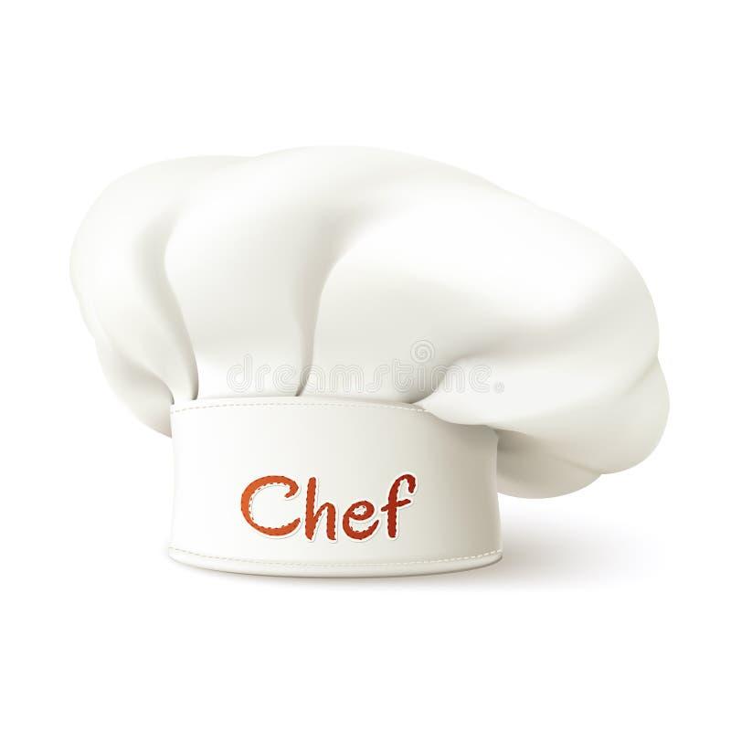 Szefa kuchni kapelusz Realistyczny ilustracji