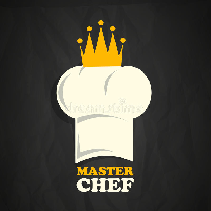 Szefa kuchni kapelusz z koroną ilustracji