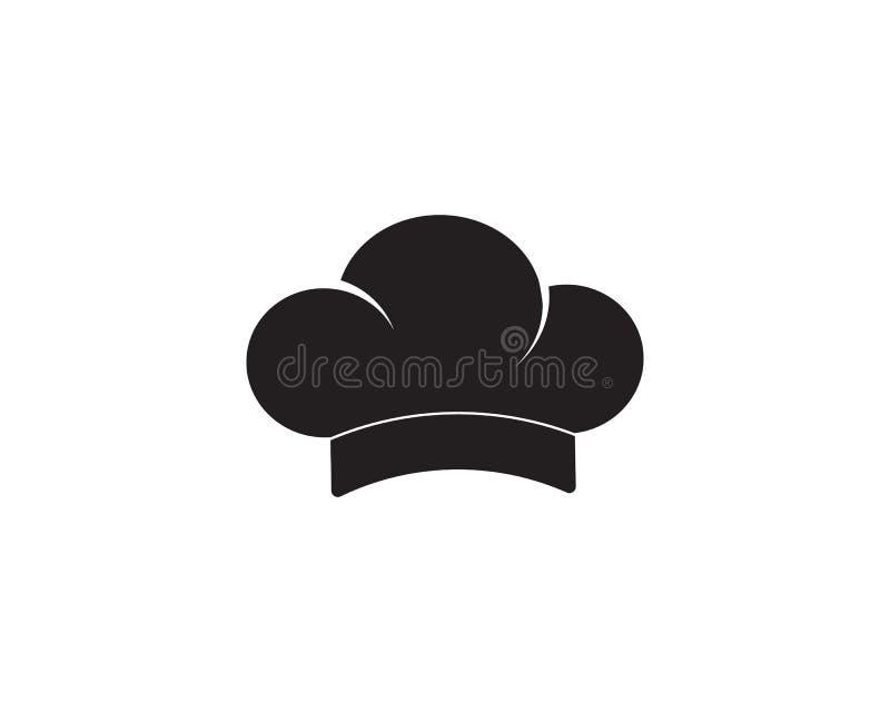 szefa kuchni kapeluszowy logo i symbolu czerni kolor ilustracji
